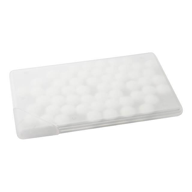 Card krabička s mentolovými bonbóny - foto