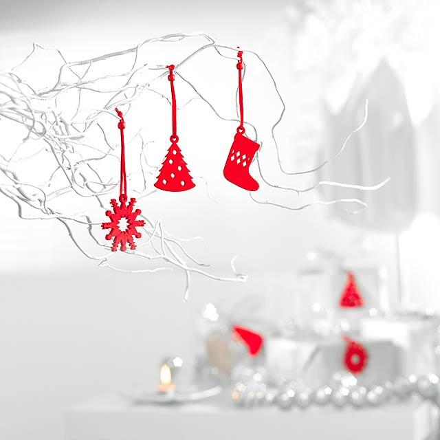 12-ti dílná vánoční dekorace - FELTIO - foto