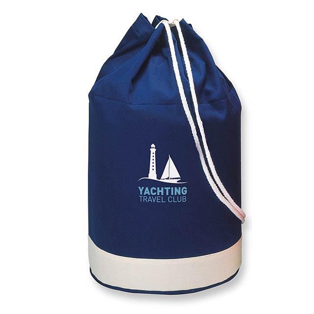 Navy - dvoubarevná námořní bavlněná taška - foto