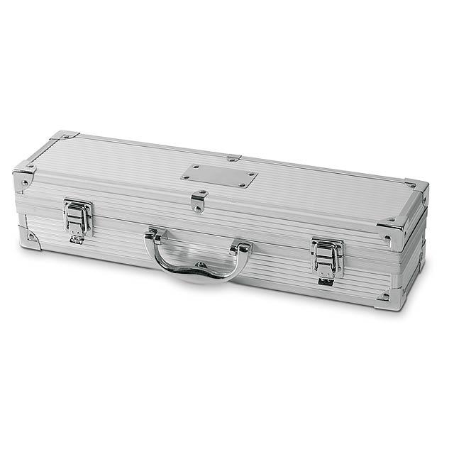 Hliníkový kufřík k barbecue BBQ - foto