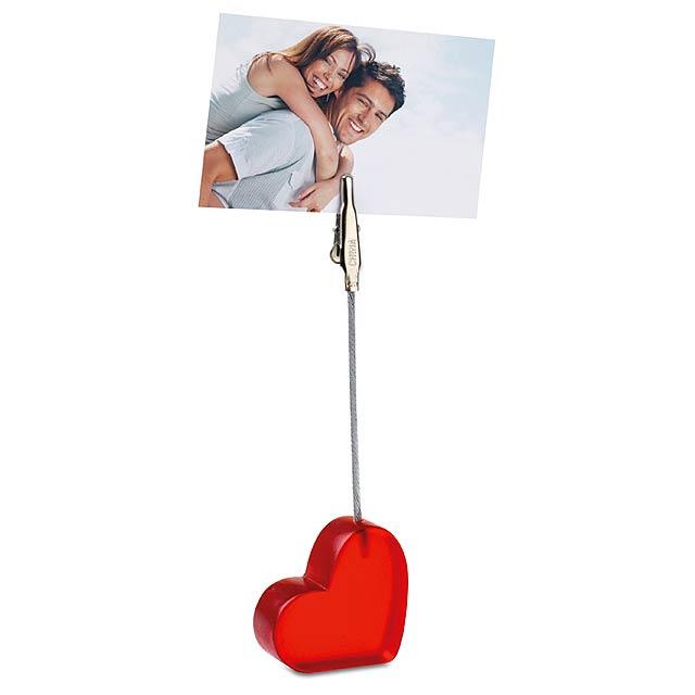 Klip ve tvaru srdce - foto