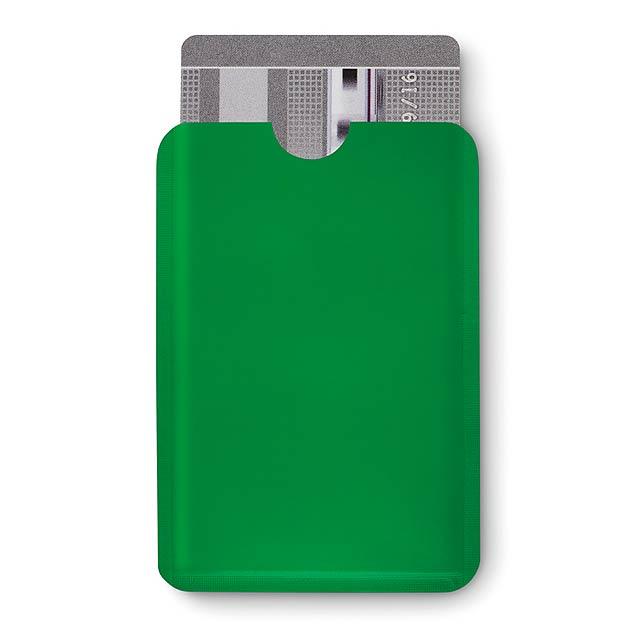 Jednoduchý plastový RFID ochránce kreditních karet. - foto