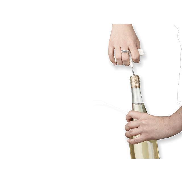 WINO - kovový víceúčelový skládací otvírák na víno - foto