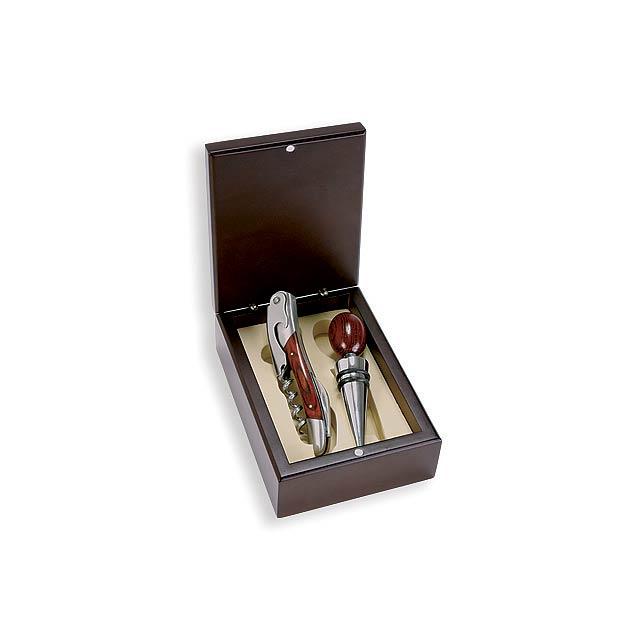 NEAPOL - 2dílná sada na víno v dřevěné dárkové krabičce - foto