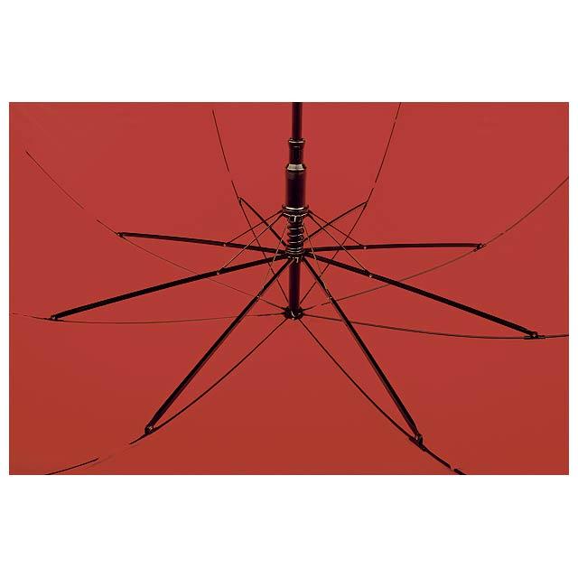 MEGAN - polyesterový vystřelovací deštník s reflexním pruhem, 8 panelů - foto