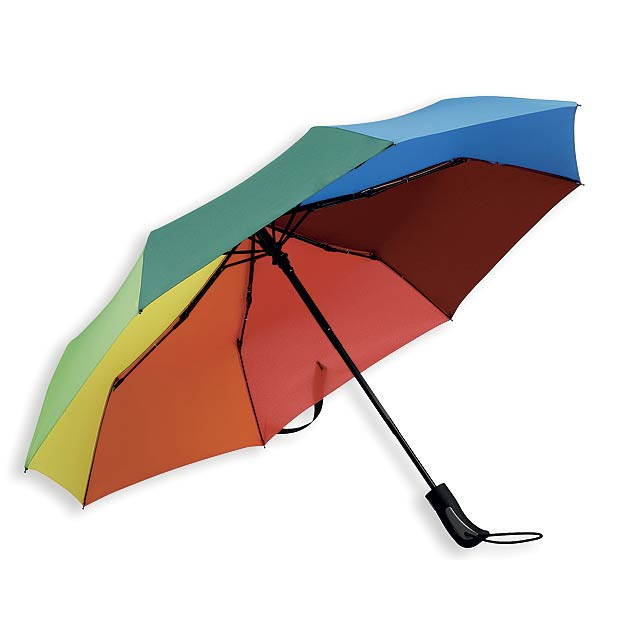 MEDLEY polyesterový skládací deštník, open/close, 8 panelů, Vícebarevná - foto