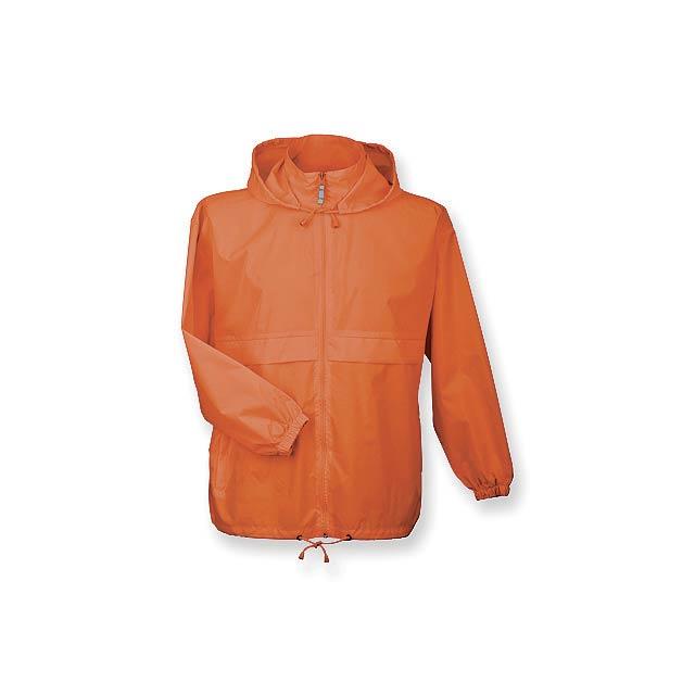 SIROCCO unisex větrovka s kapucí, vel. S, B & C, Oranžová - foto
