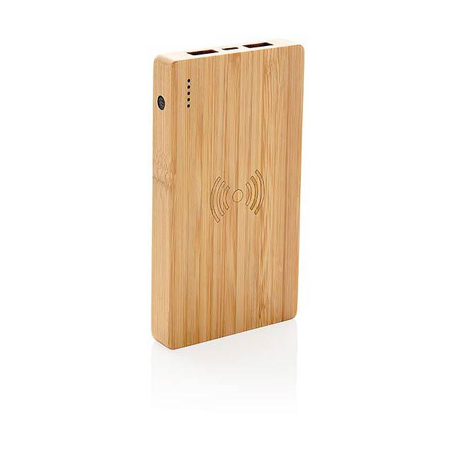 Bambusová bezdrátová powerbanka 4 000 mAh 5W - foto