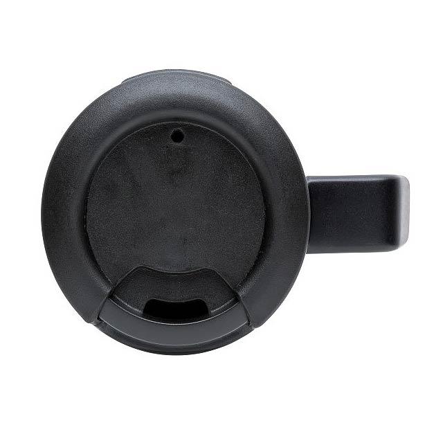 Hrnek Coffee to go s ouškem, stříbro - foto