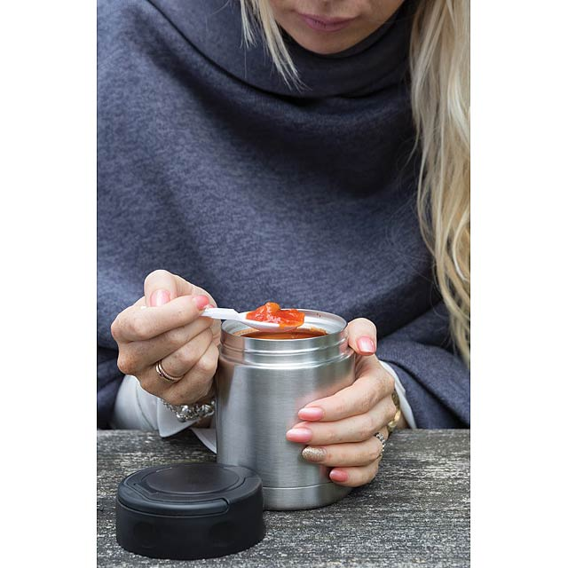 Vakuově izolovaná nádoba na potraviny, stříbro - foto
