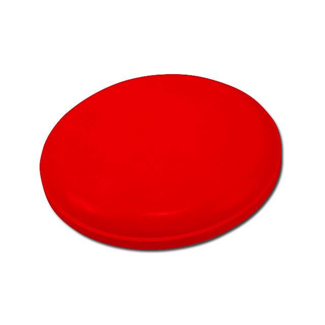 AERO - plastový létající talíř - červená
