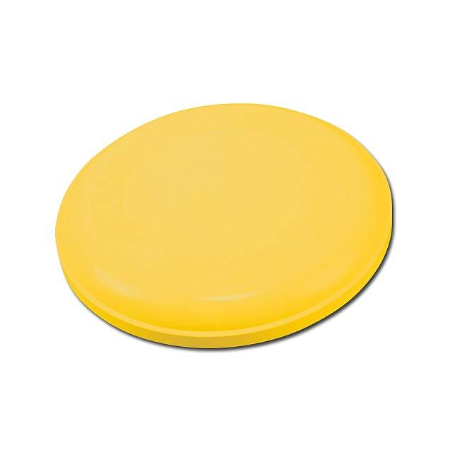 AERO - plastový létající talíř - žlutá