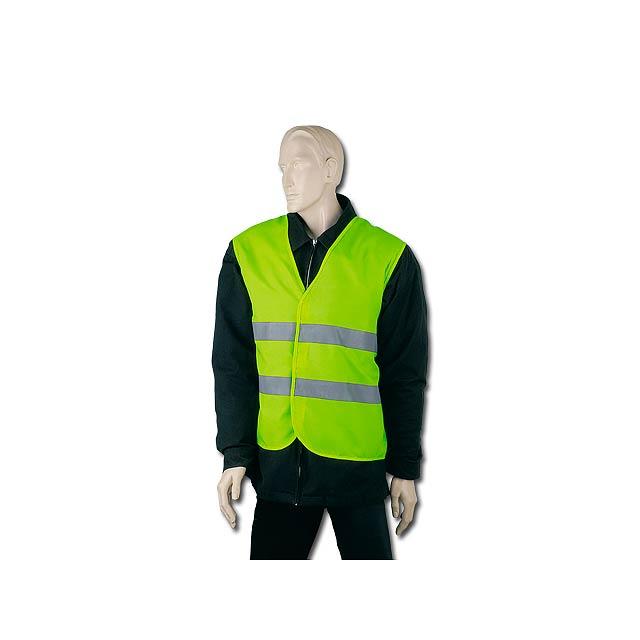 IRMA - polyesterová reflexní vesta, dospělá velikost - žlutá
