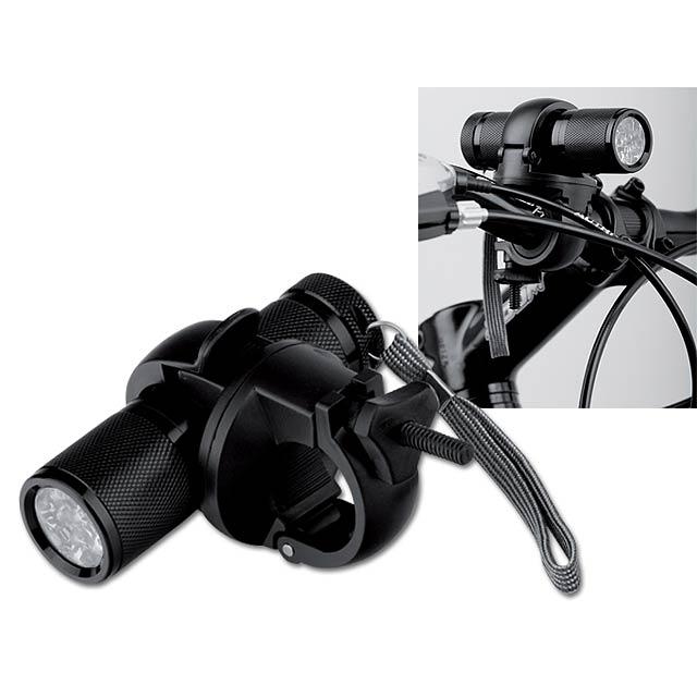 ELECTRA - kovová svítilna na kolo - černá