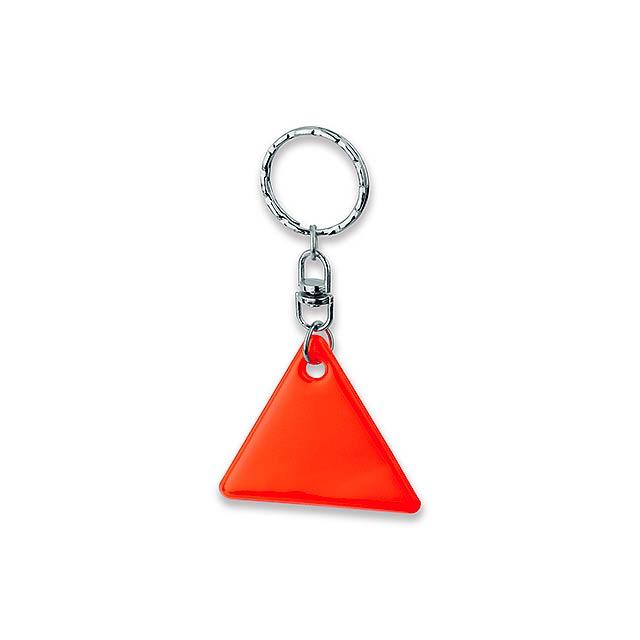 HOWIE - plastový přívěsek - reflexní - oranžová