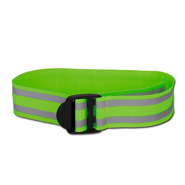 FLORIAN - Reflective polyester elastic band. - yellow