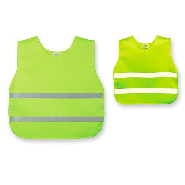 SKIBI II - polyesterová reflexní vesta, dětská velikost - žlutá