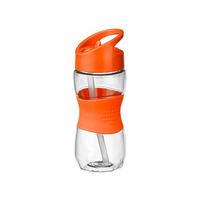 ELIJAH plastová sportovní láhev, 350 ml, Oranžová - oranžová