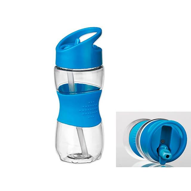 ELIJAH - plastová sportovní láhev, 350 ml - modrá