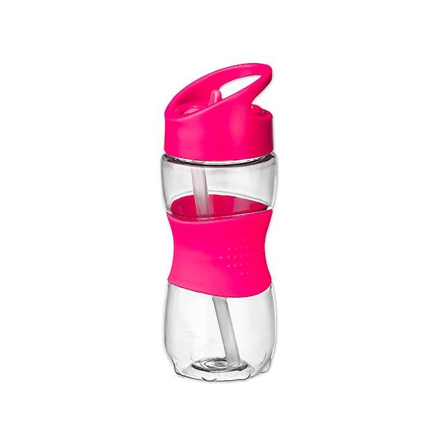 ELIJAH plastová sportovní láhev, 350 ml, Fuchsiová - foto
