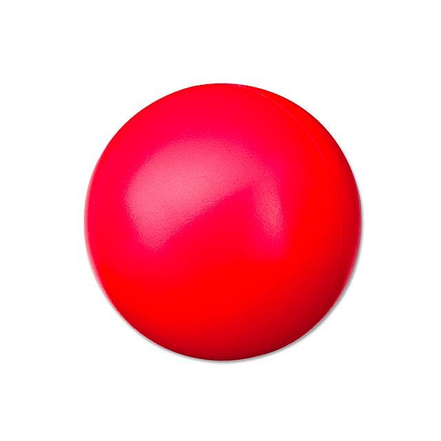 ORBIN - pěnový antistresový míček - červená