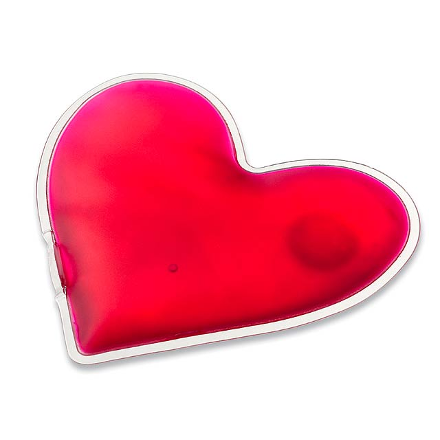 LOVELY - Small warming pillow in the shape of heart. - pink