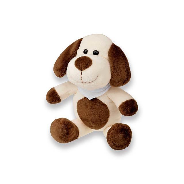 SCOOBY - plyšový pes - bílá