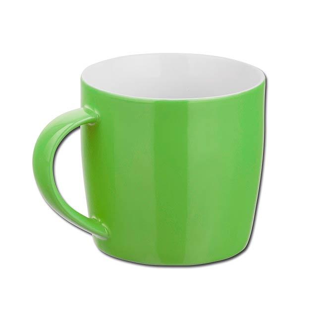 DURAN keramický hrnek, 370 ml, Světle zelená - zelená