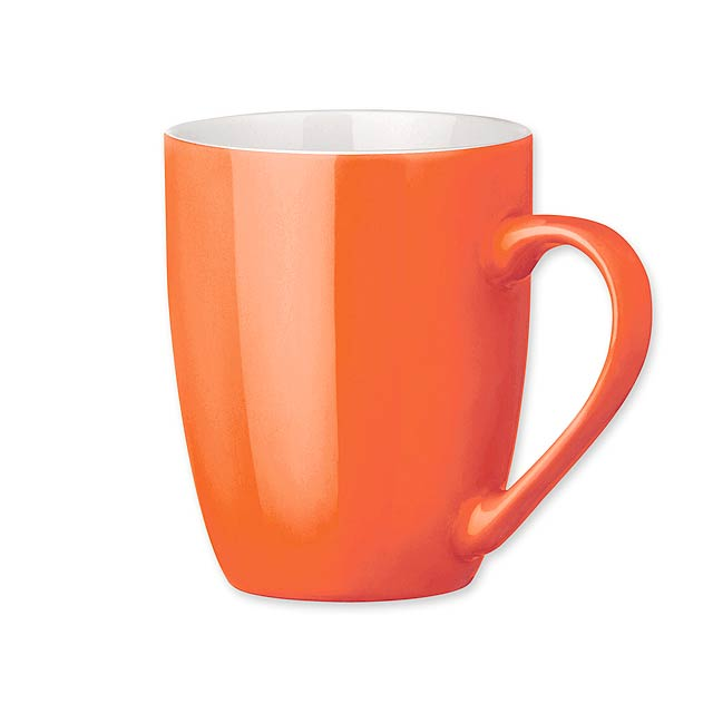 ESTEBAN keramický hrnek, 370 ml, Oranžová - oranžová