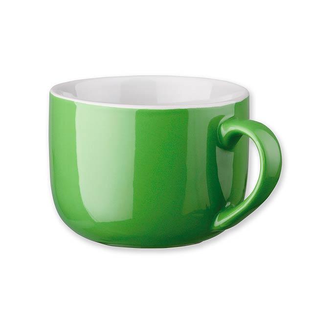 CHUBBY - keramický hrnek, 400 ml - zelená
