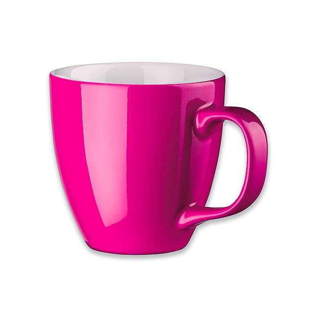 PANTHONY - porcelánový hrnek o objemu, 440 ml - růžová