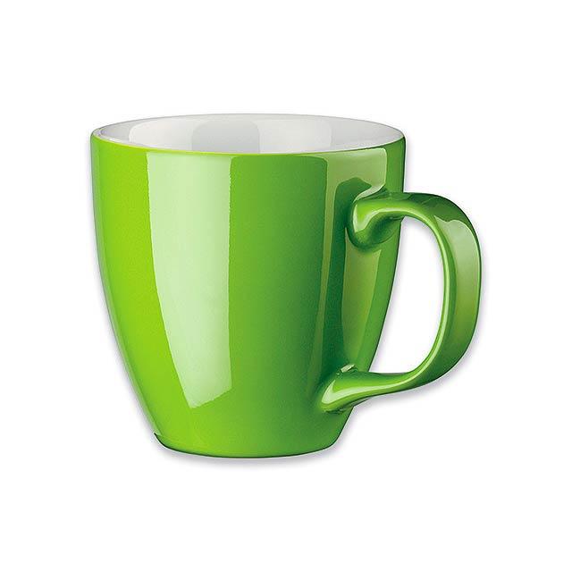 PANTHONY - porcelánový hrnek o objemu, 440 ml - zelená
