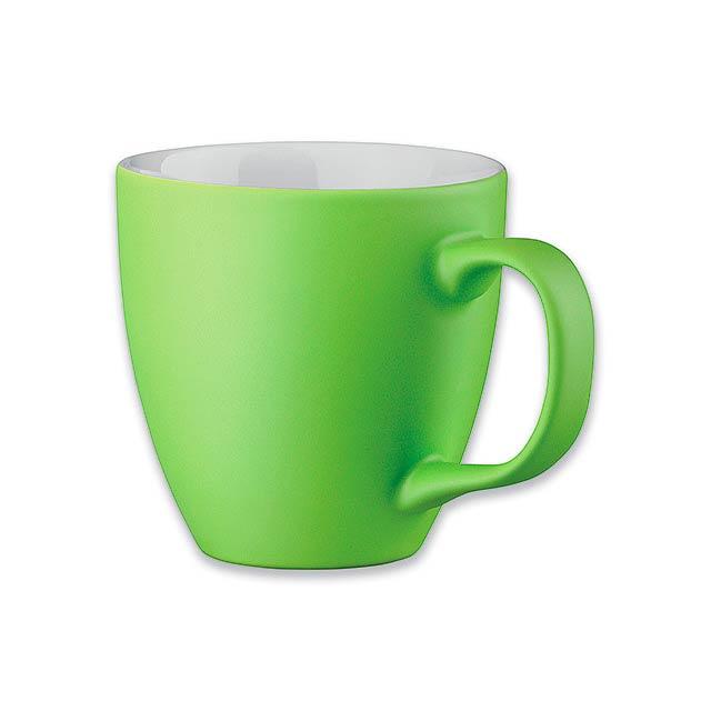 PANTHONY MAT - porcelánový hrnek o objemu, 440 ml - zelená