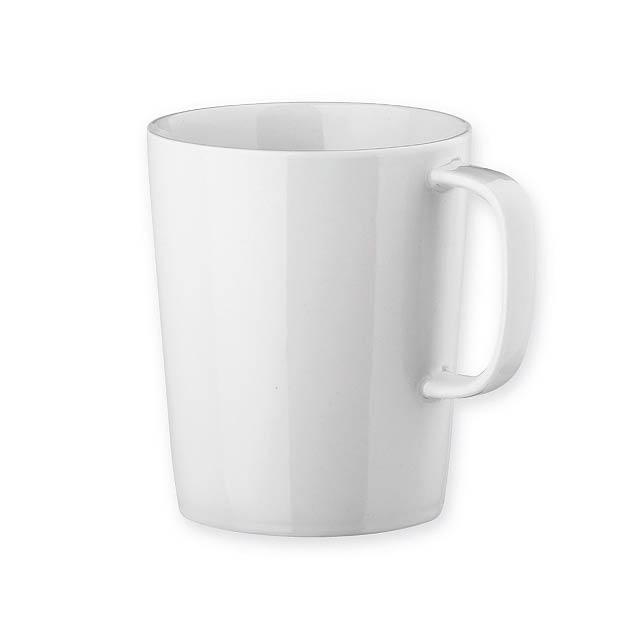 NELS WHITE porcelánový hrnek, 320 ml, Bílá - bílá
