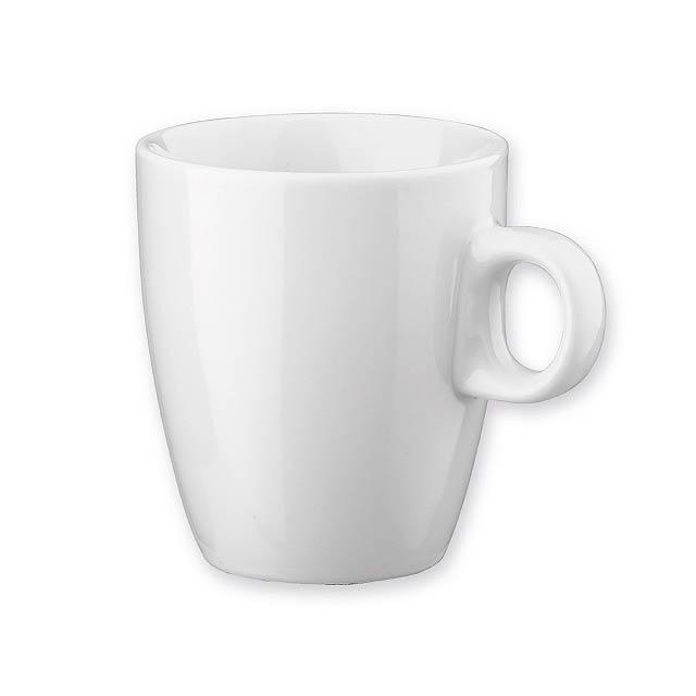 LIEN porcelánový hrnek, 210 ml, Bílá - bílá