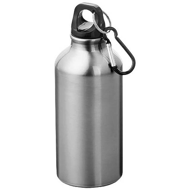 Láhev na pití s karabinou  - šedá