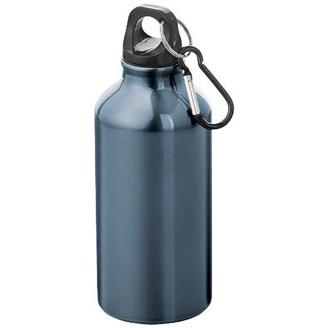 Láhev na pití s karabinou  - modrá