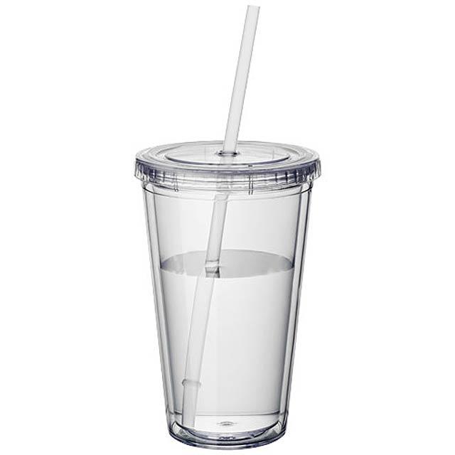 Plastová termo sklenice - transparentní