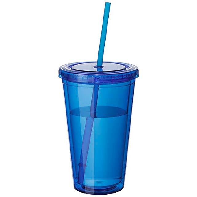Plastová termo sklenice - modrá