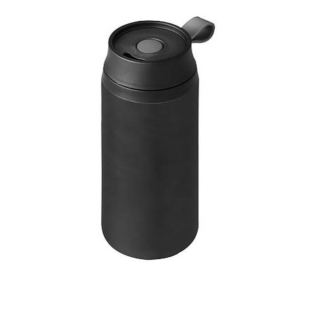 Vodotěsná termoska Flow - černá