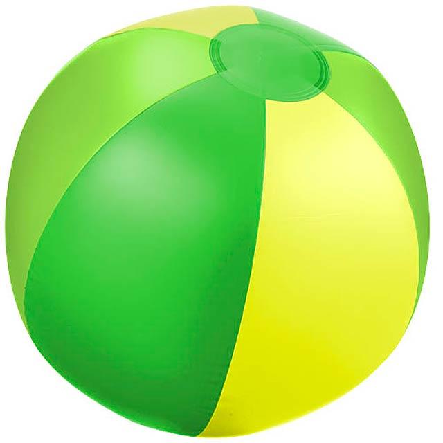 Pevný plážový míč Trias - zelená