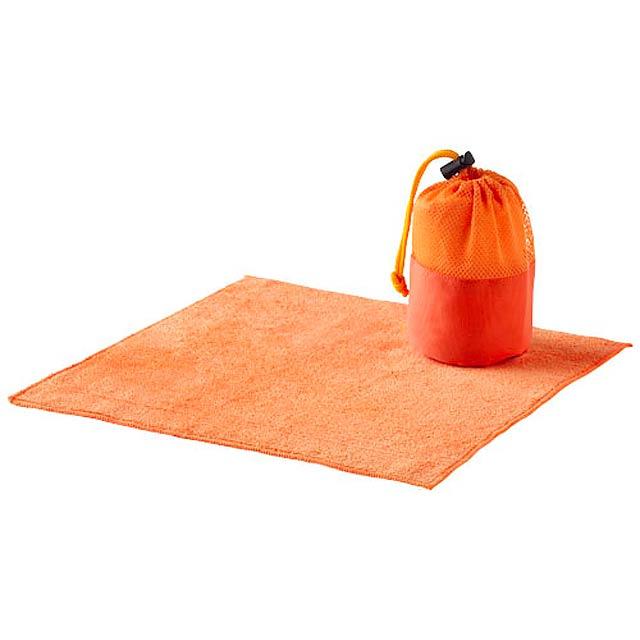 Utěrka Diamond k čištění auta, včetně obalu - oranžová