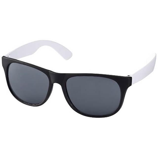 Dvoubarevné sluneční brýle Retro - bílá