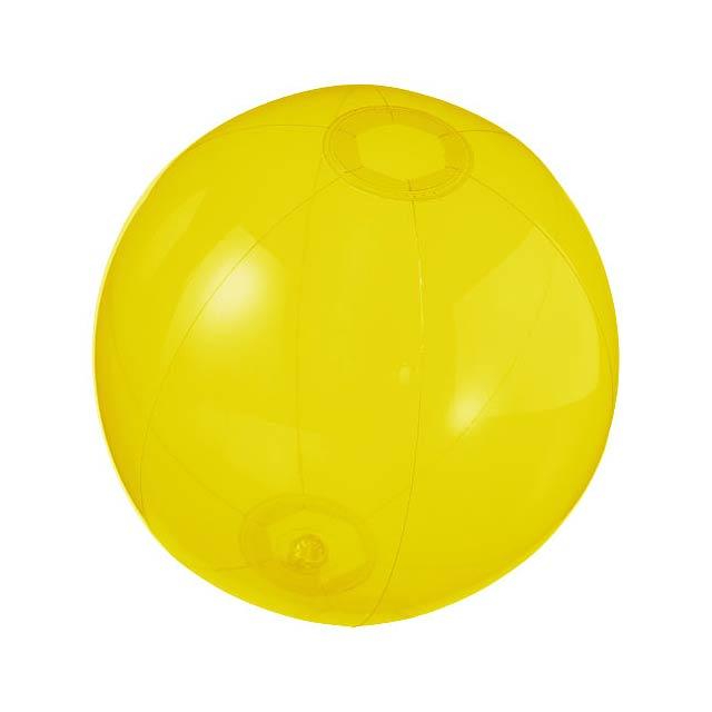 Průhledný plážový míč Ibiza - žlutá