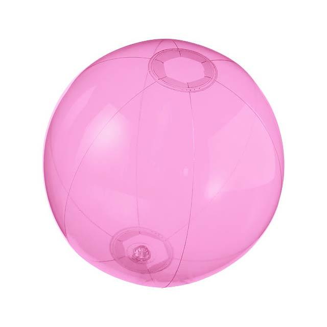 Průhledný plážový míč Ibiza - růžová