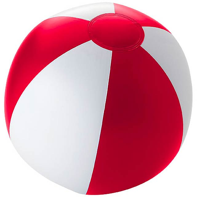 Pevný plážový míč Palma - červená