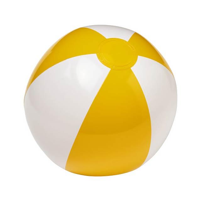 Pevný plážový míč Palma - bílá