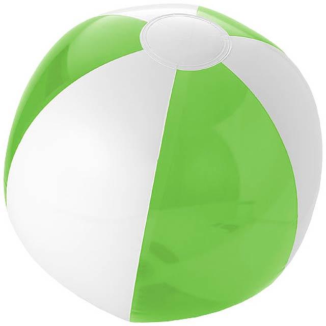 Pevný/průhledný plážový míč Bondi - citrónová - limetková