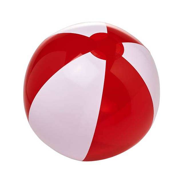 Bondi pevný průhledný plážový míč - bílá