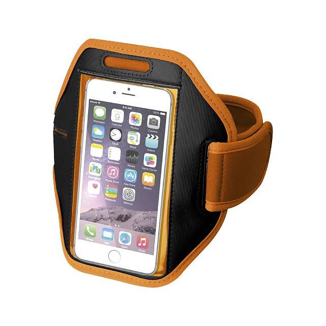 Pažní páska Gofax s dotekovou folií pro chytrý telefon - oranžová